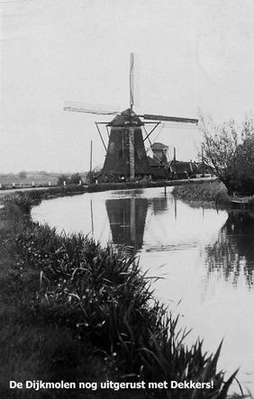 Dijkmolen, Maasland, Foto: collectie Luc Ruijgt.