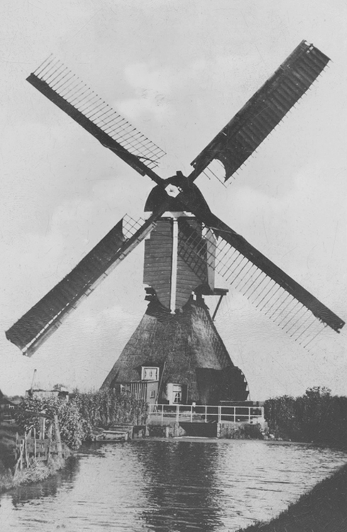 Boterslootse Molen, Noordeloos, Oude foto datum onbekend, ingezonden door Arie Hoek.