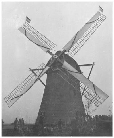Hogeveensemolen, Noordwijkerhout, Opname uit 1939. Foto: ? (verzameling Ton Meesters).