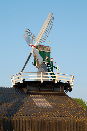 Dekkermolen, Hoogmade, Foto: Rob Pols (21-4-2009).