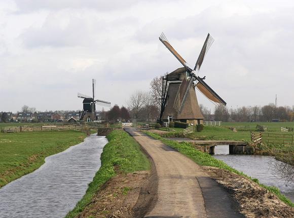 Achtkante Molen, Streefkerk, Foto: Willem Jans (8-3-2008).