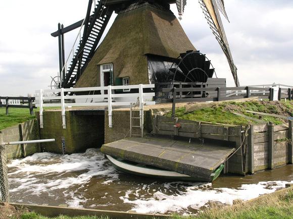 Oude Weteringmolen, Streefkerk, Foto: W. Jans (08-03-2008).