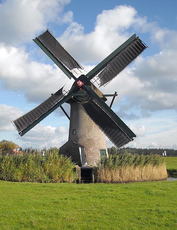 Knipmolen, Voorschoten, Foto: Charles Stokman (6-10-2012).