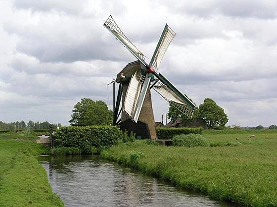 Knipmolen, Voorschoten, Foto: W. Jans (28-5-2006).