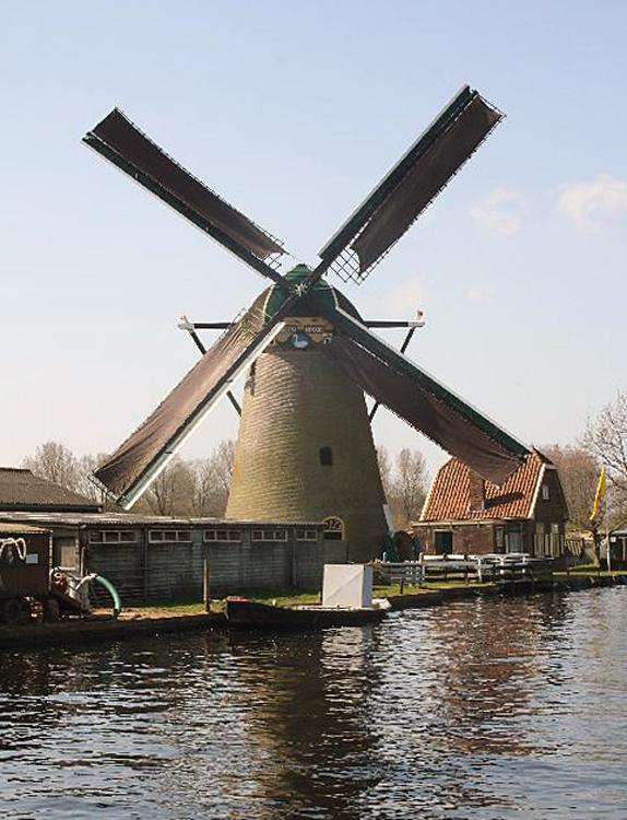Zwanburgermolen, Warmond, Foto: Frank van Onna (21-4-2013).
