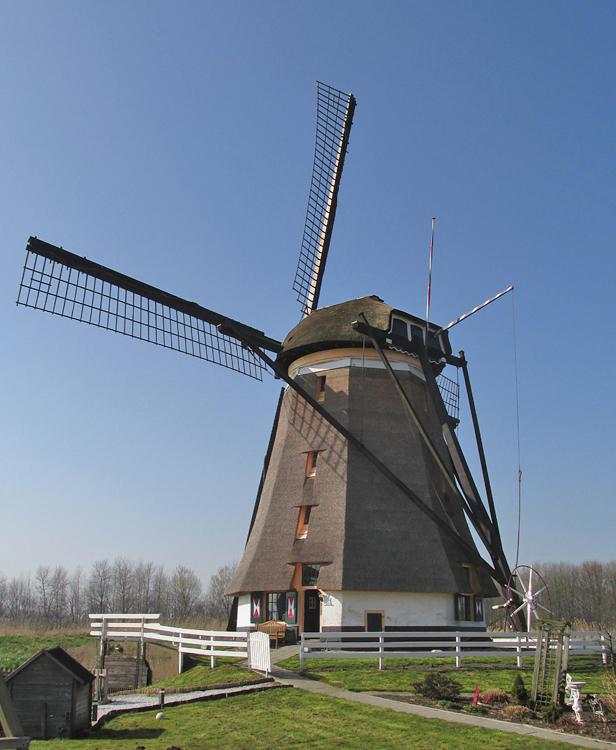 Eendrachtsmolen, Zevenhuizen, Foto: Piet Glasbergen (12-3-2014).