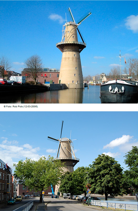 Noletmolen, Schiedam, Foto: Rob Pols (13-7-2009).
