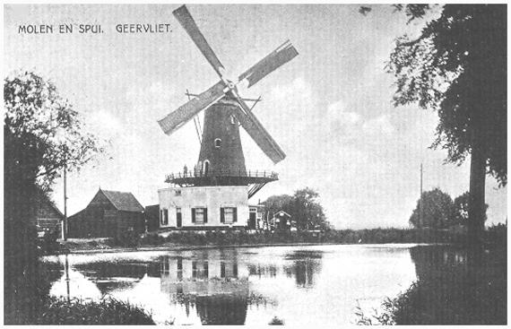 Bernissemolen, Geervliet, Foto: n.b. (verzameling Rob Pols).