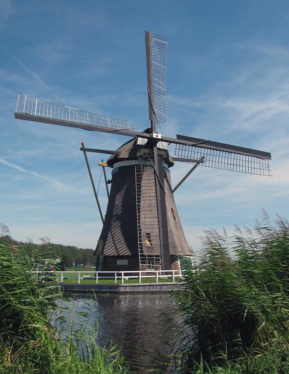 Achtkante Molen, Groot-Ammers, Foto: Piet Glasbergen (18-8-2012).