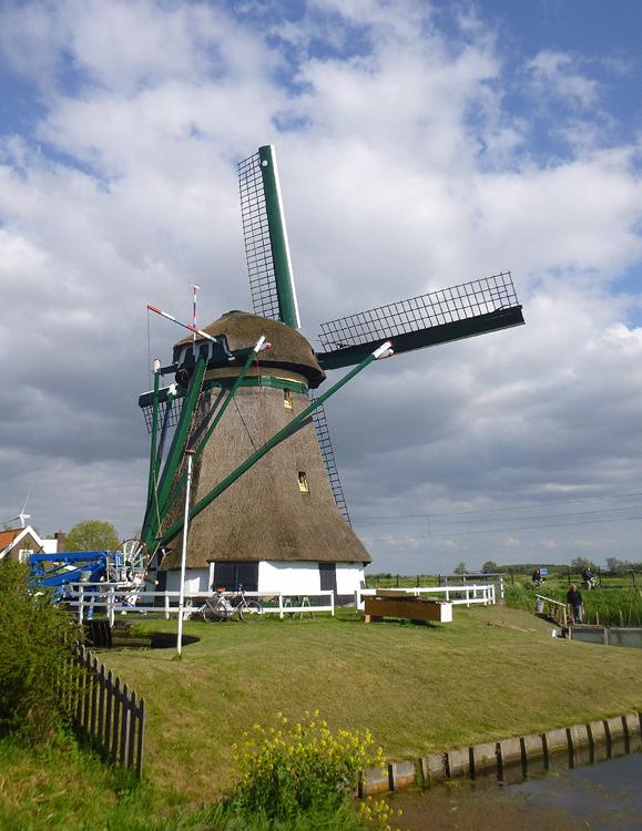 Rijnenburger molen, Hazerswoude-Rijndijk, Foto: Tony Hop (3-5-2014).