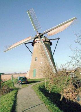 Nederwaard Molen No.8, Kinderdijk, Foto: Joop Vendrig (2-2-2002).