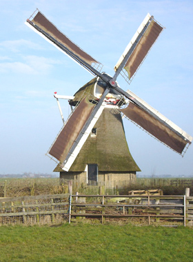 Wynzer Mûne / Wijnsermolen, Wyns (Wijns), Foto: Jippe Braaksma (23-02-2007).   Database Nederlandse molens