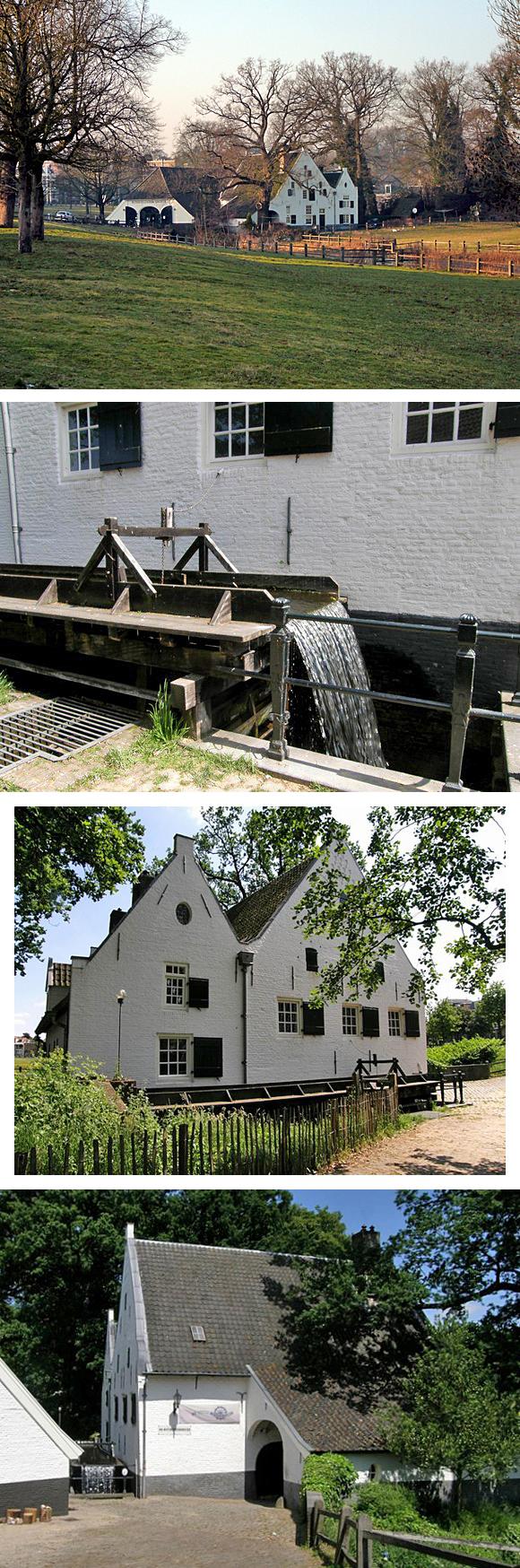 De Witte Molen, Arnhem, boven Dick Bunskoeke (29-01-2011) en Loek Busser(15-5-2008)   Database Nederlandse molens