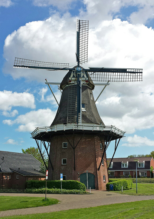 Aeolus, Farmsum, Sven Vesters (9 jaar) (13-5-2015). | Database Nederlandse molens