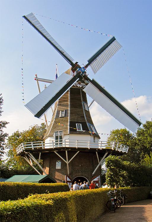 Stel's Meulen, Harkstede, De molen tijdens de feestelijke heropening na restauratie.Martin E. van Doornik (11-9-2015) | Database Nederlandse molens