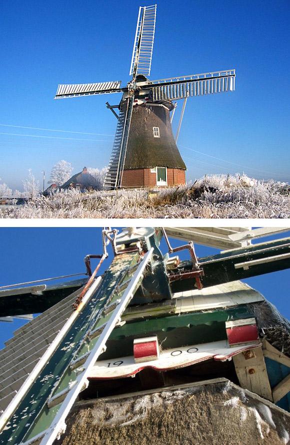 Olinger Koloniemolen, Laskwerd, Rob Hoving (22-12-2007) | Database Nederlandse molens