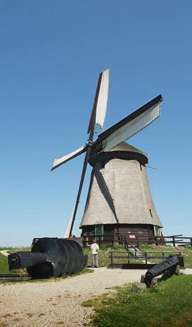 Ondermolen D (Museummolen), Schermerhorn, Foto: Gerard Roomer (4-7-2009). | Database Nederlandse molens