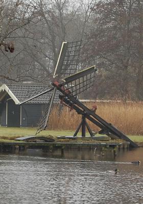 Molengat, Giethoorn, Foto: Rob Pols (27-02-2009). | Database Nederlandse molens