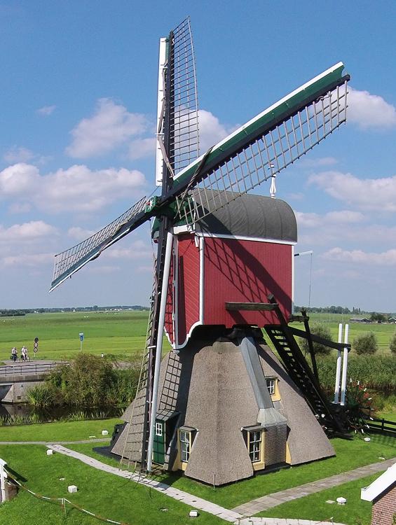 De Vrouw Venner, Oud Ade, Dronefoto: René Pronk (27-8-2014) | Database Nederlandse molens
