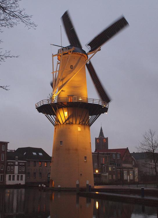 De Kameel, Schiedam, Jeroen van Dijke (4-1-2013) | Database Nederlandse molens