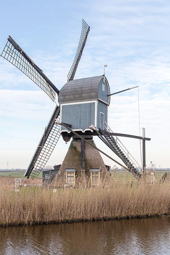 Geremolen / Blauwe Wip, Hazerswoude-Dorp, Frank Hendriks (12-2-2019) | Database Nederlandse molens