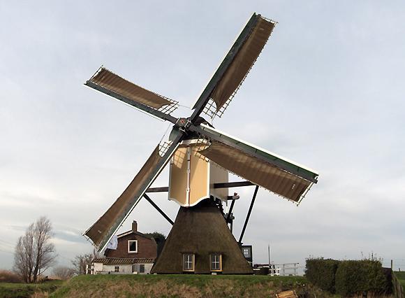 Groenendijkse Molen, Hazerswoude-Rijndijk, Casper v/d Berg (februari 2007) | Database Nederlandse molens